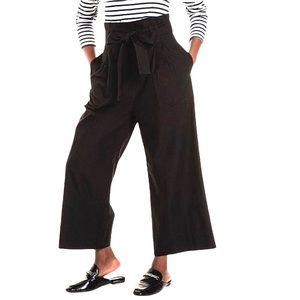 Studio W Paper Bag High Waist Crop Pants Sz 12 NWT